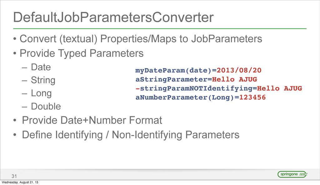 DefaultJobParametersConverter • Convert (textua...