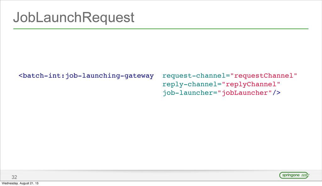 JobLaunchRequest 32 <batch-int:job-launching-ga...