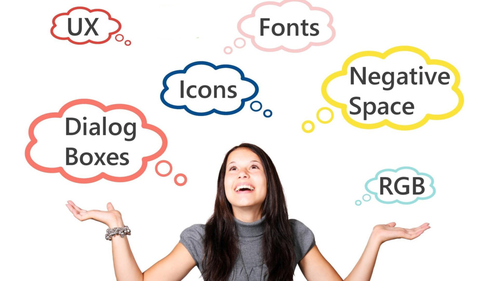 Fonts UX Icons Dialog Boxes Negative Space RGB
