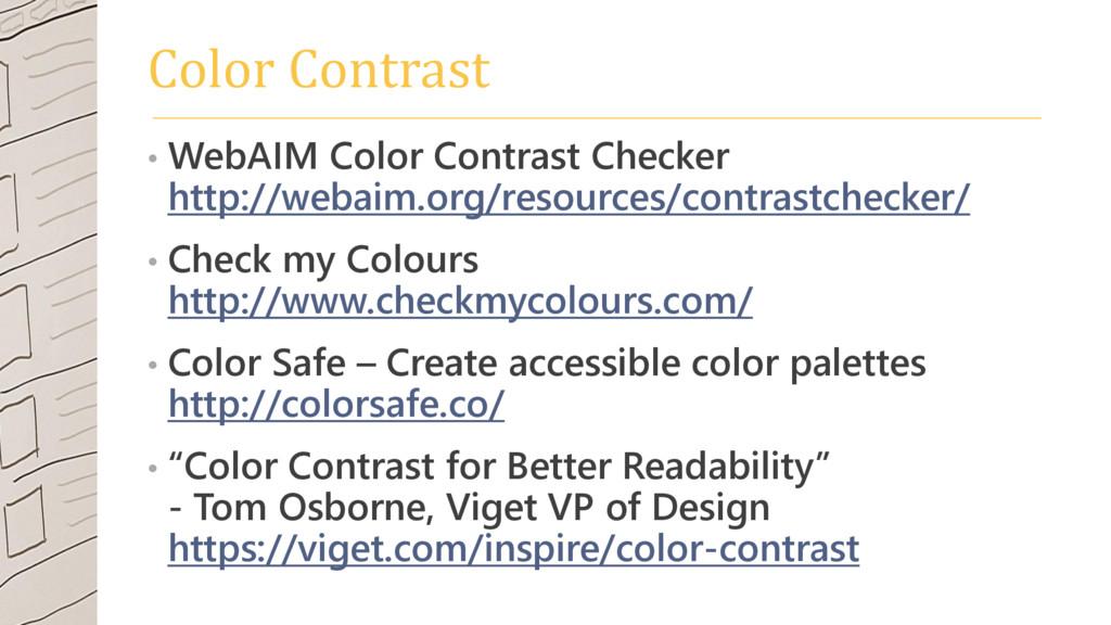 Color Contrast • WebAIM Color Contrast Checker ...