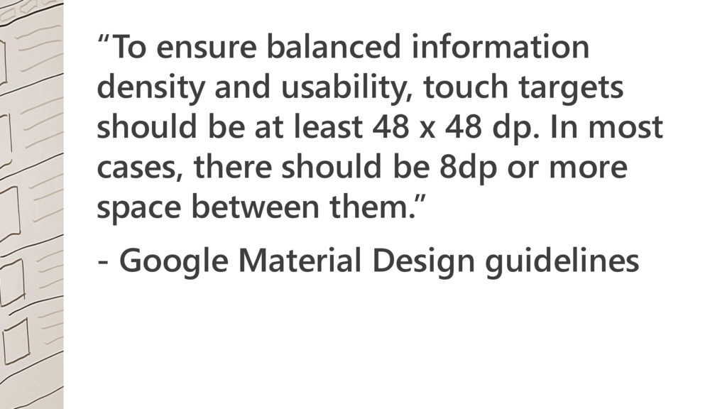 """To ensure balanced information density and usa..."