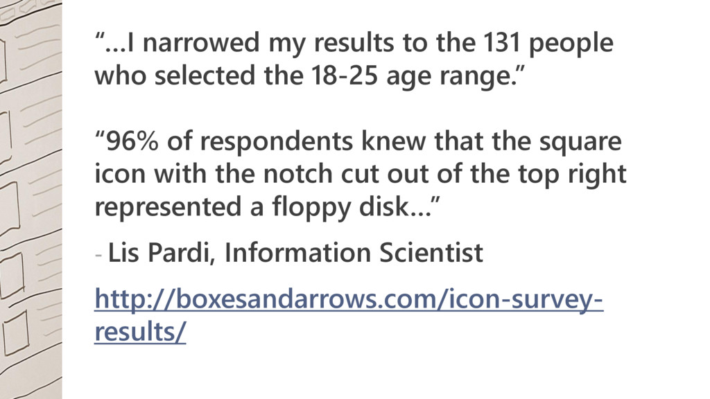 """""""…I narrowed my results to the 131 people who s..."""