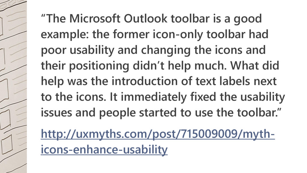 """""""The Microsoft Outlook toolbar is a good exampl..."""