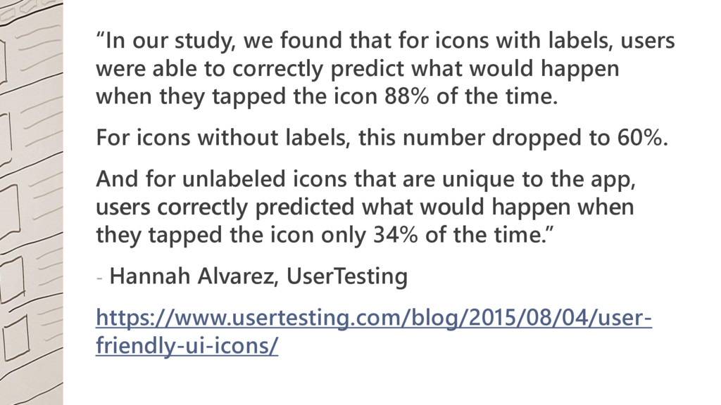 """""""In our study, we found that for icons with lab..."""