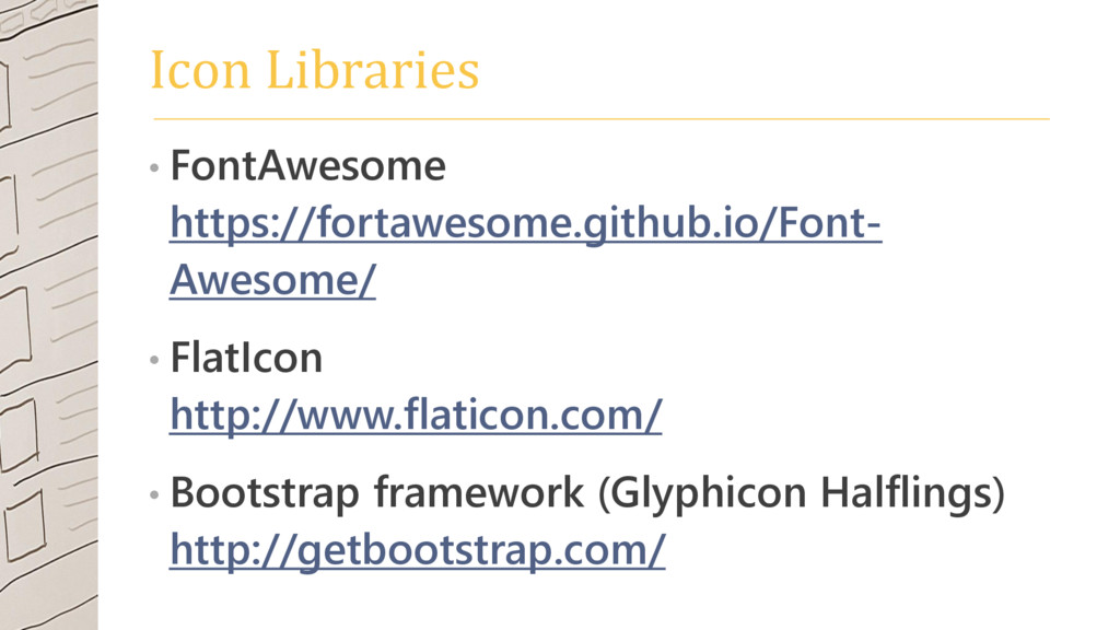 Icon Libraries • FontAwesome https://fortawesom...