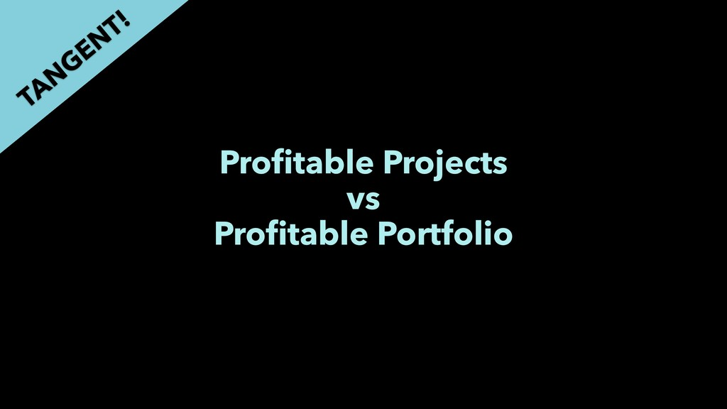 Profitable Projects vs Profitable Portfolio TAN G...