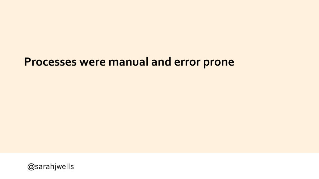 @sarahjwells Processes were manual and error pr...