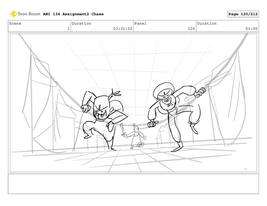 Scene 1 Duration 03:31:02 Panel 120 Duration 01...