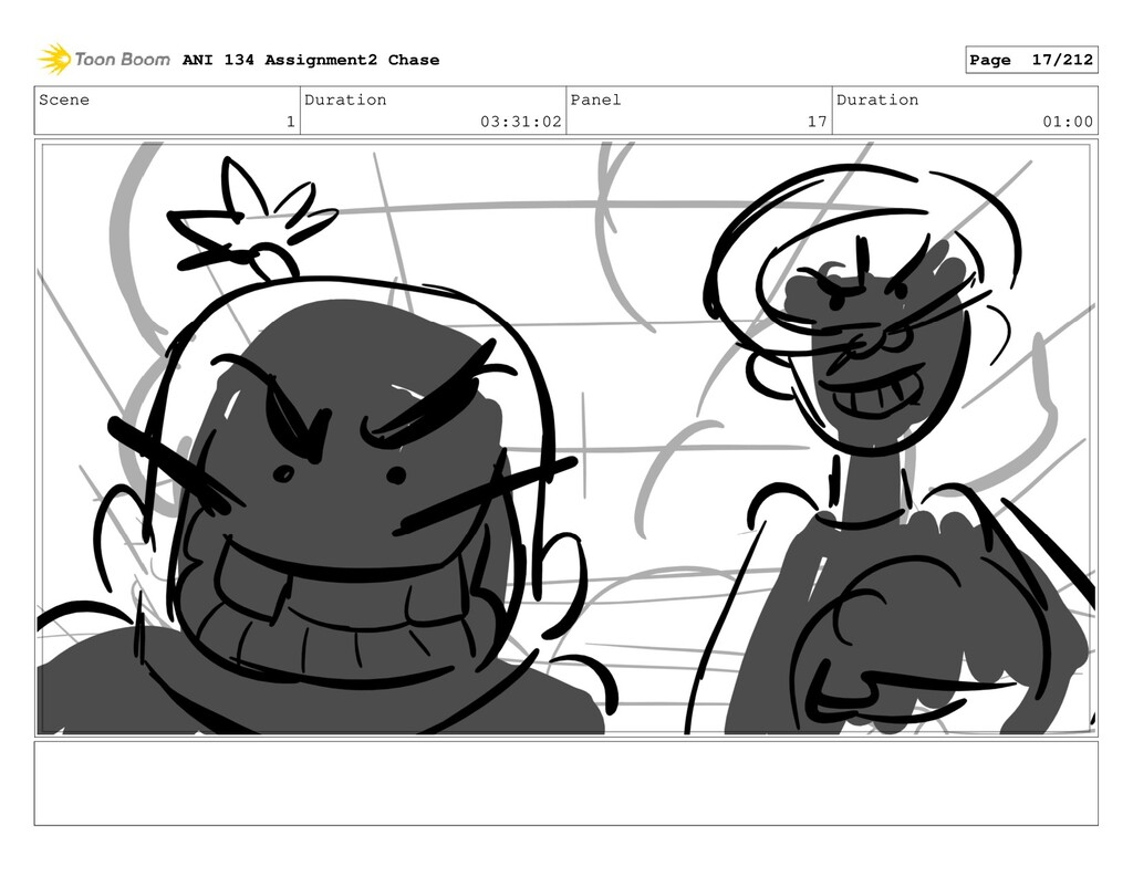 Scene 1 Duration 03:31:02 Panel 17 Duration 01:...