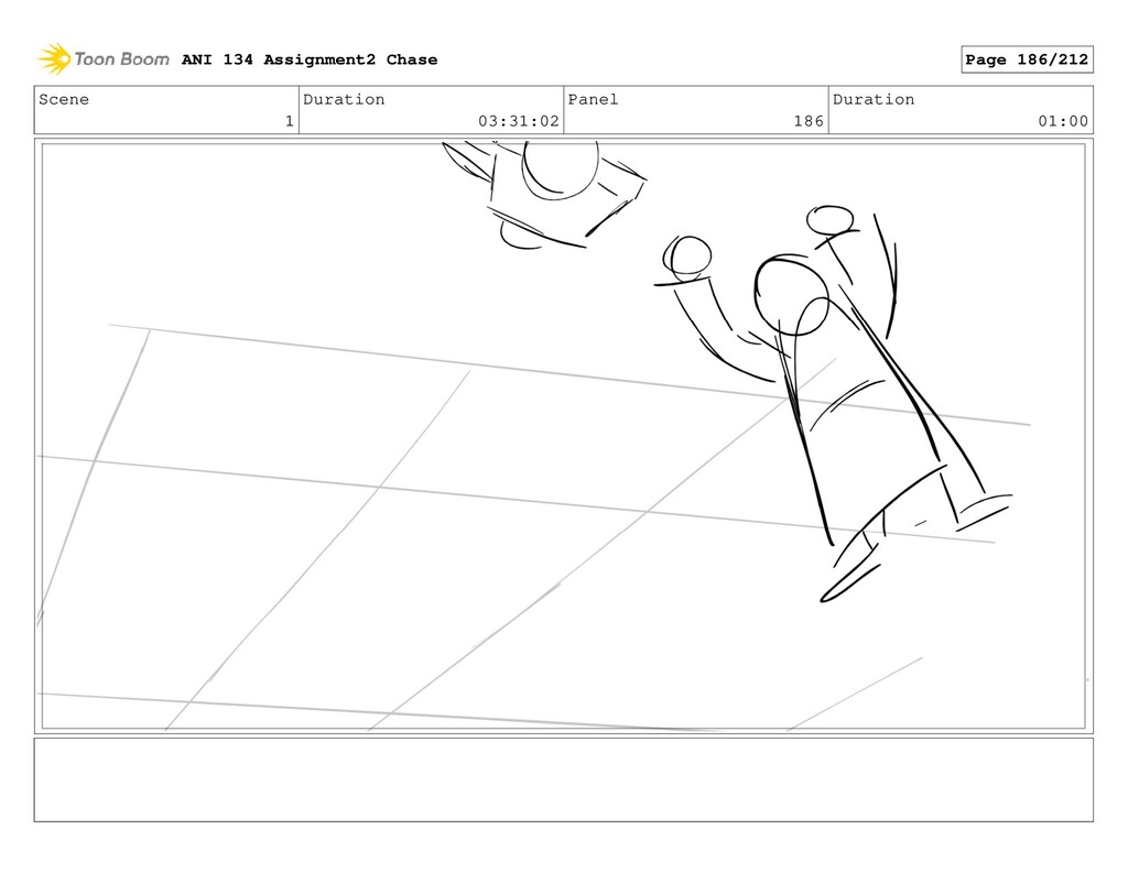 Scene 1 Duration 03:31:02 Panel 186 Duration 01...