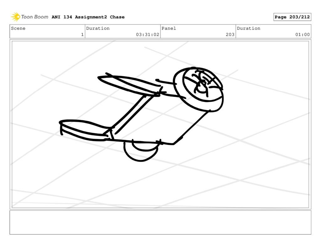 Scene 1 Duration 03:31:02 Panel 203 Duration 01...