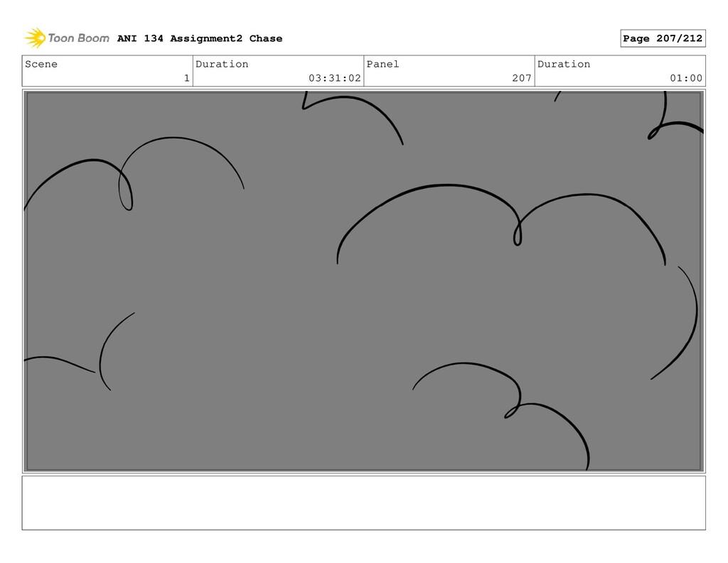Scene 1 Duration 03:31:02 Panel 207 Duration 01...