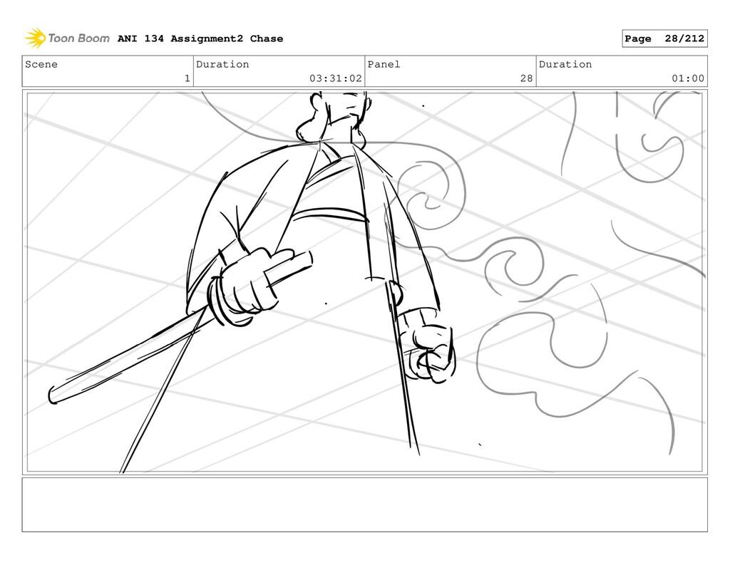 Scene 1 Duration 03:31:02 Panel 28 Duration 01:...