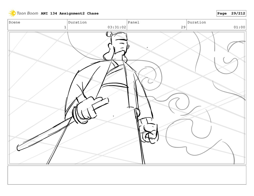 Scene 1 Duration 03:31:02 Panel 29 Duration 01:...