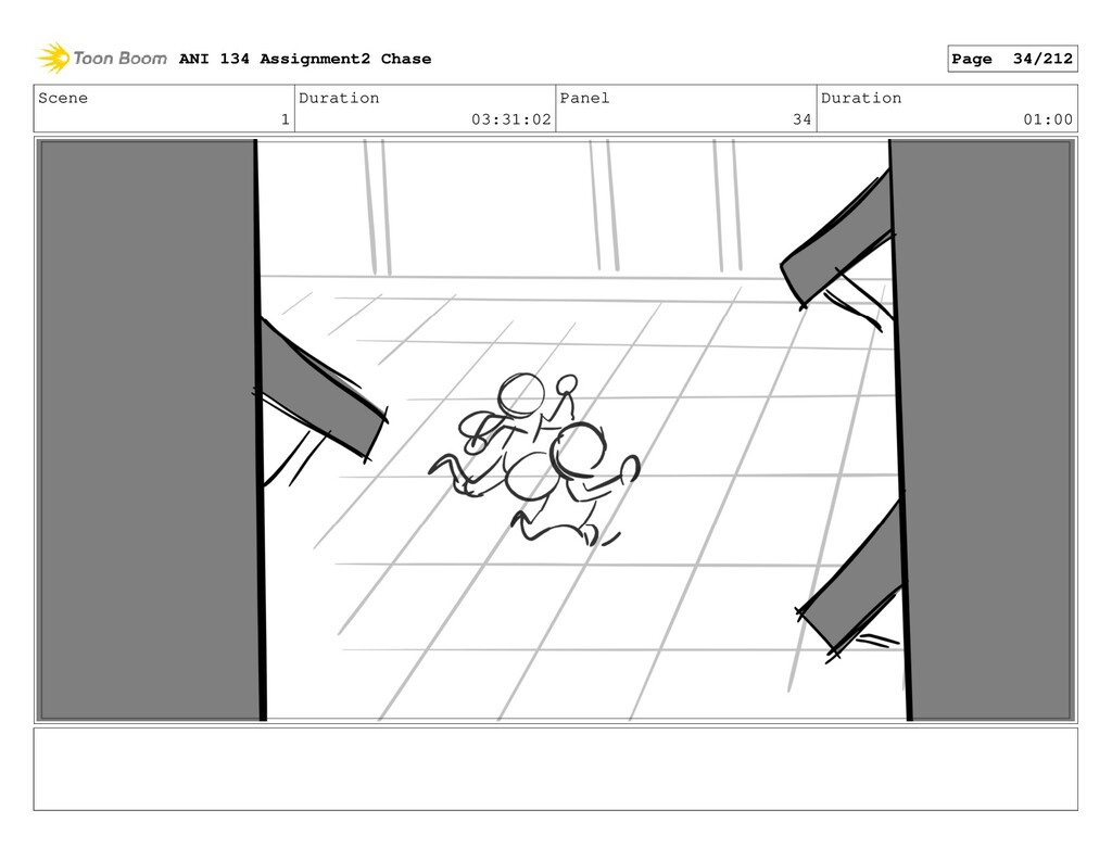 Scene 1 Duration 03:31:02 Panel 34 Duration 01:...