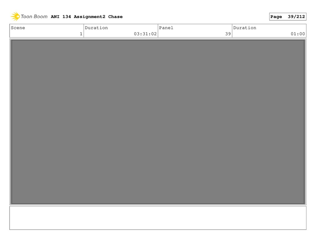 Scene 1 Duration 03:31:02 Panel 39 Duration 01:...