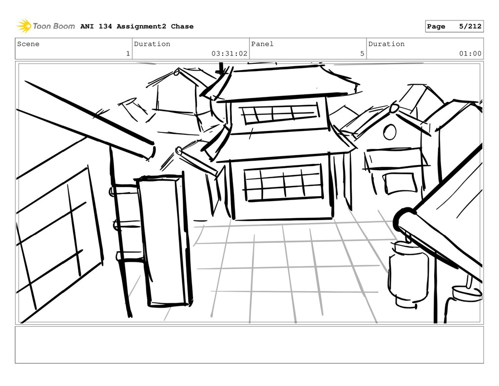 Scene 1 Duration 03:31:02 Panel 5 Duration 01:0...