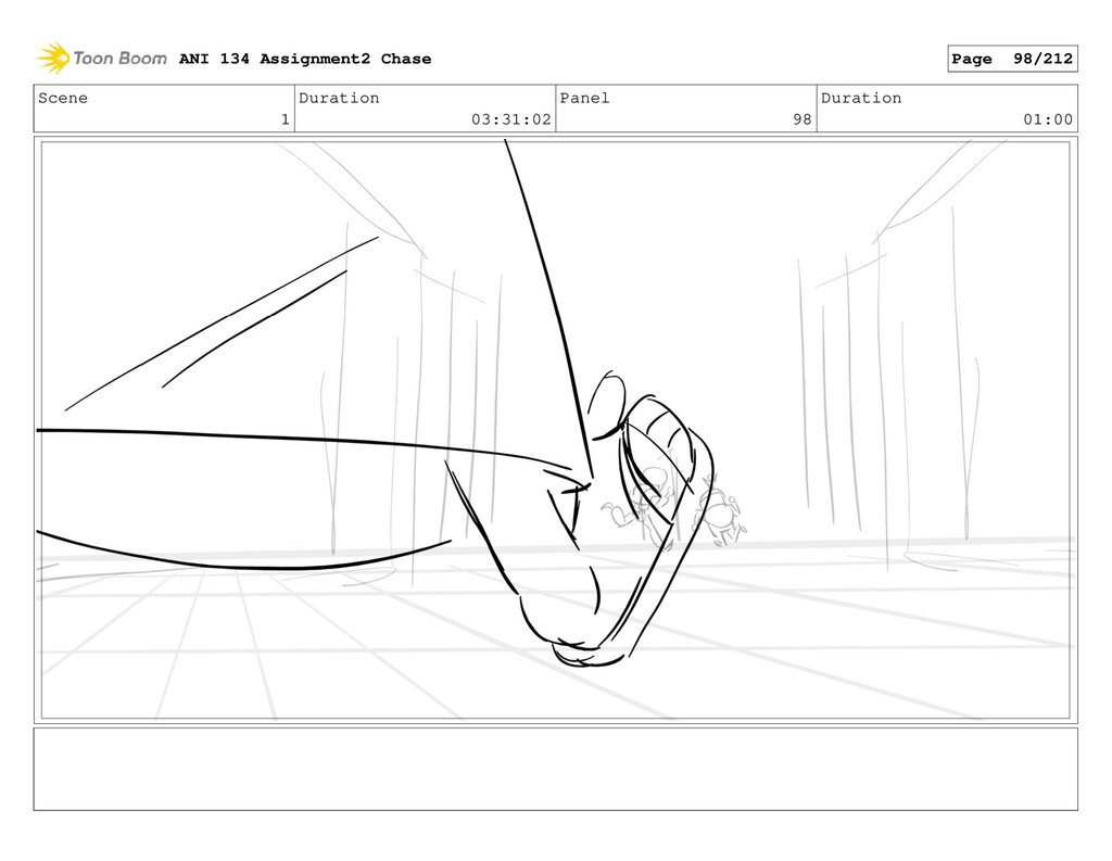 Scene 1 Duration 03:31:02 Panel 98 Duration 01:...