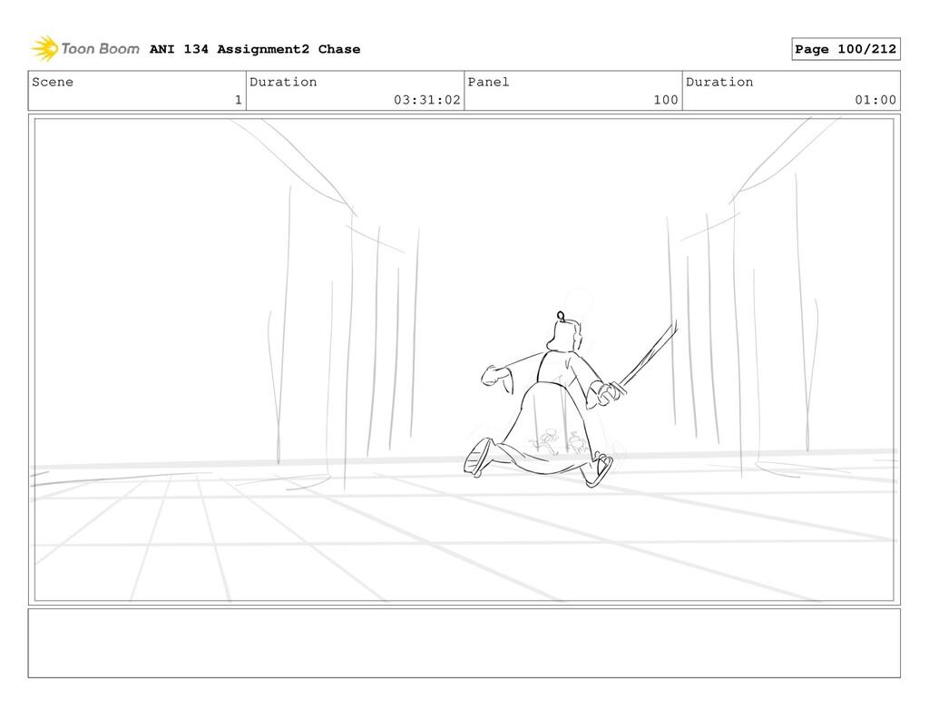 Scene 1 Duration 03:31:02 Panel 100 Duration 01...
