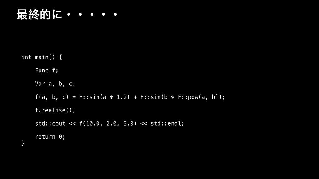 ࠷ऴతʹɾɾɾɾɾ int main() { Func f; Var a, b, c; f(a...