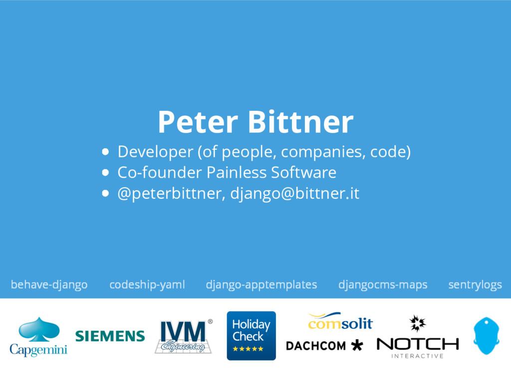 Peter Bittner Developer (of people, companies, ...
