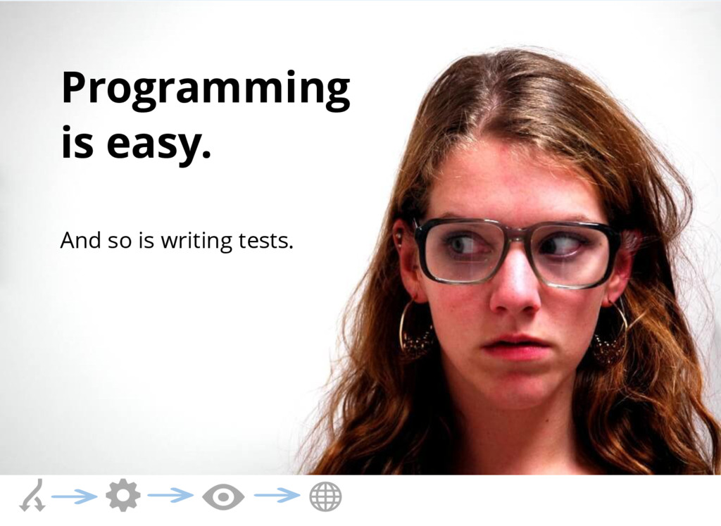 Programming is easy. And so is writing tests.