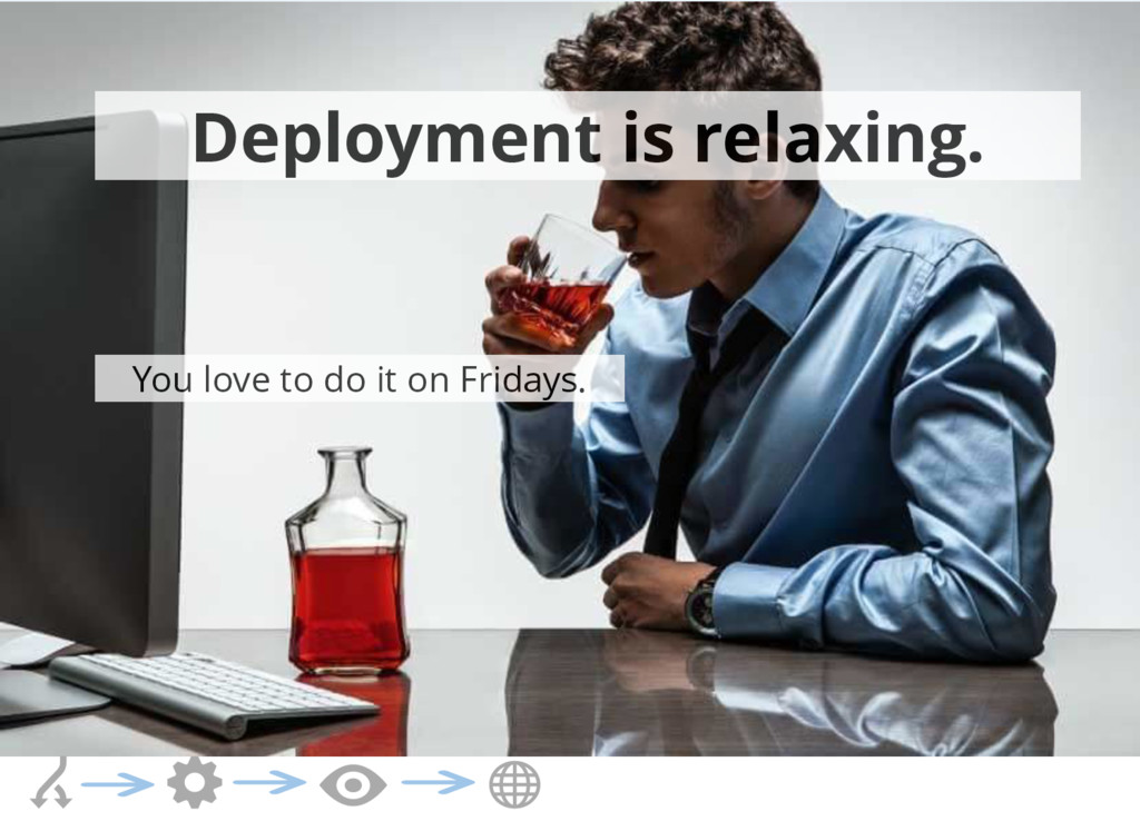 Deployment is relaxing. You love to do it on Fr...