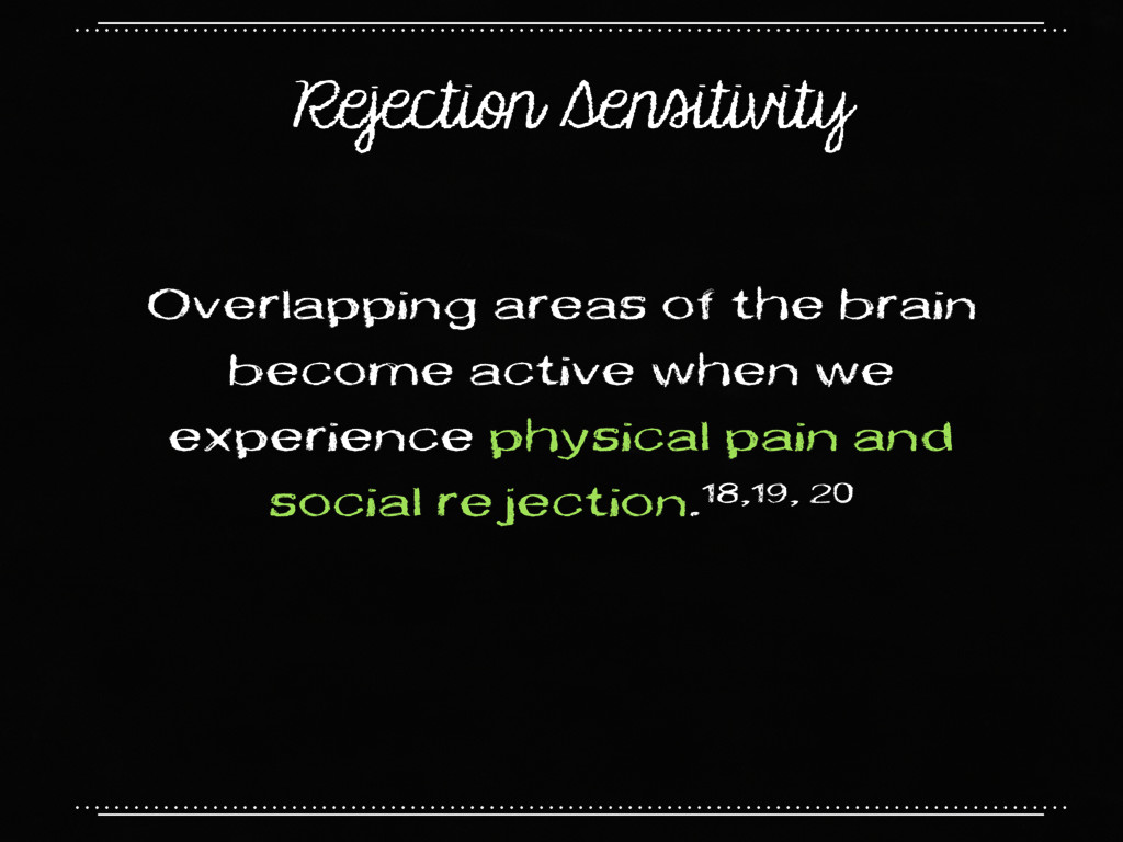 Rejection Sensitivity Overlapping areas of the ...