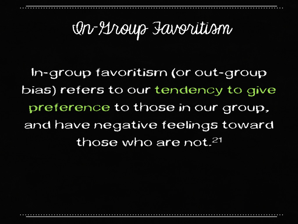 In-Group Favoritism In-group favoritism (or out...