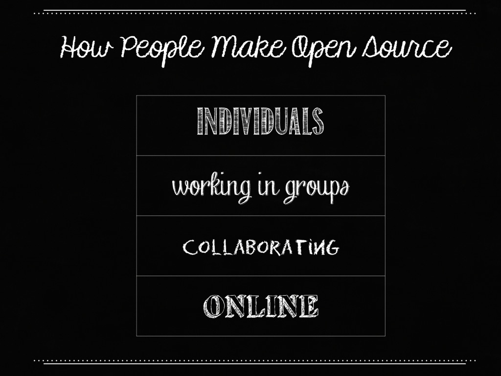 How People Make Open Source individuals working...
