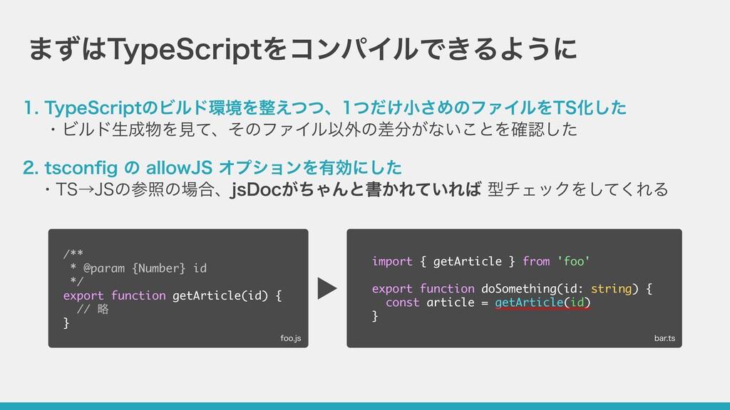まずはTypeScriptをコンパイルできるように 1. TypeScriptのビルド環境を整...