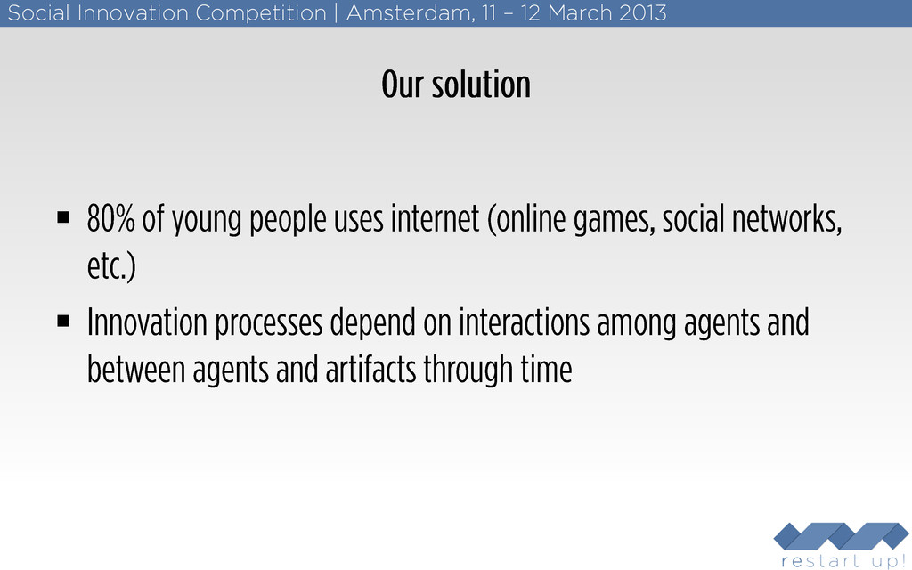 Social Innovation Competition   Amsterdam, 11 –...