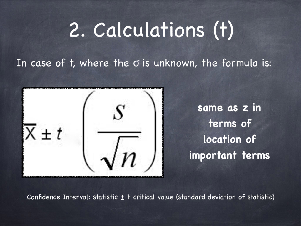2. Calculations (t) In case of t, where the ϭ i...