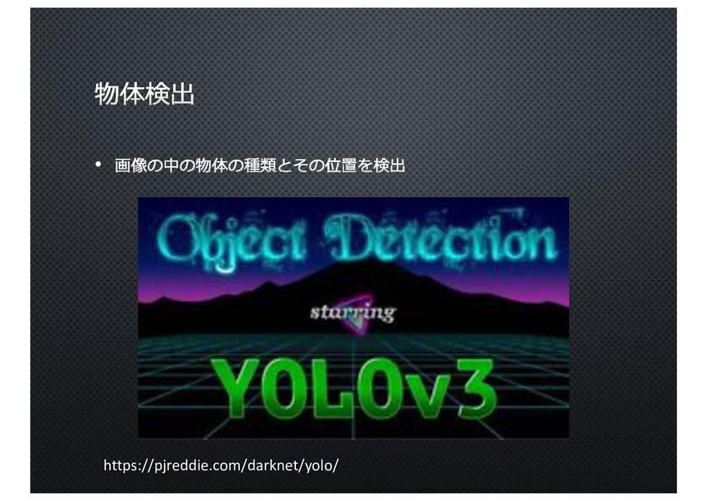 https://pjreddie.com/darknet/yolo/ •