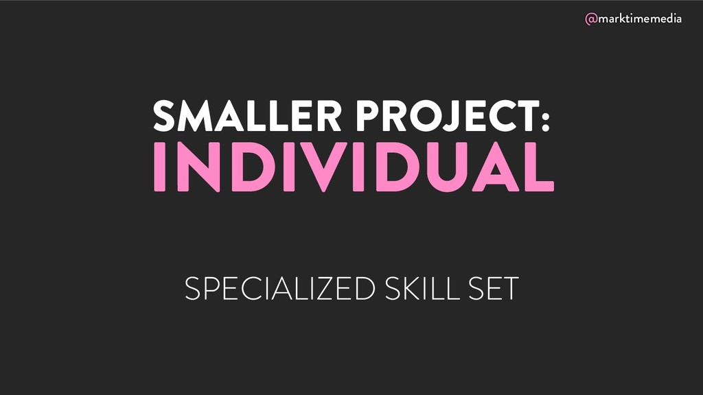 @marktimemedia SMALLER PROJECT: INDIVIDUAL SPEC...