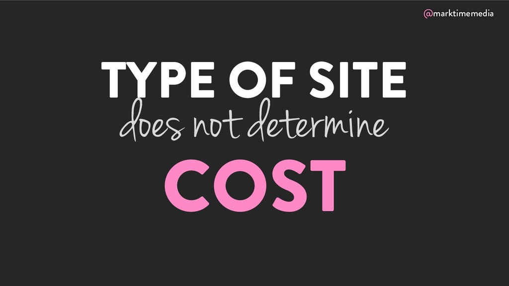 @marktimemedia TYPE OF SITE COST does not deter...
