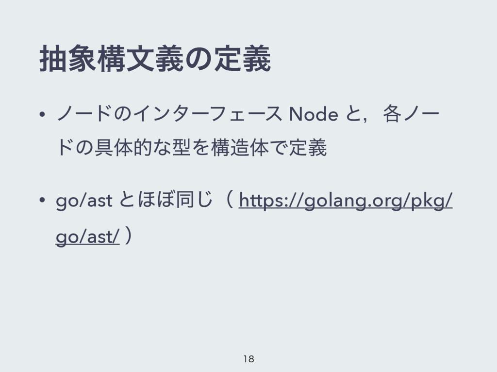 நߏจٛͷఆٛ • ϊʔυͷΠϯλʔϑΣʔε Node ͱɼ֤ϊʔ υͷ۩ମతͳܕΛߏମͰ...