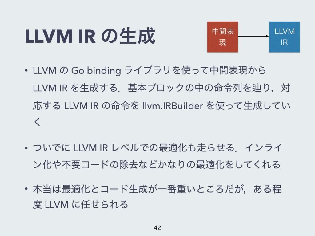 LLVM IR ͷੜ தؒද ݱ --7. *3 • LLVM ͷ Go binding ...