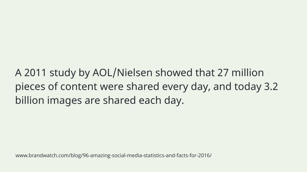 A 2011 study by AOL/Nielsen showed that 27 mill...