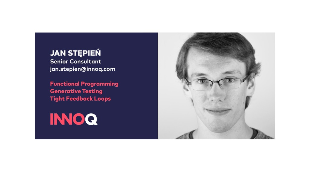 JAN STĘPIEŃ Senior Consultant jan.stepien@innoq...