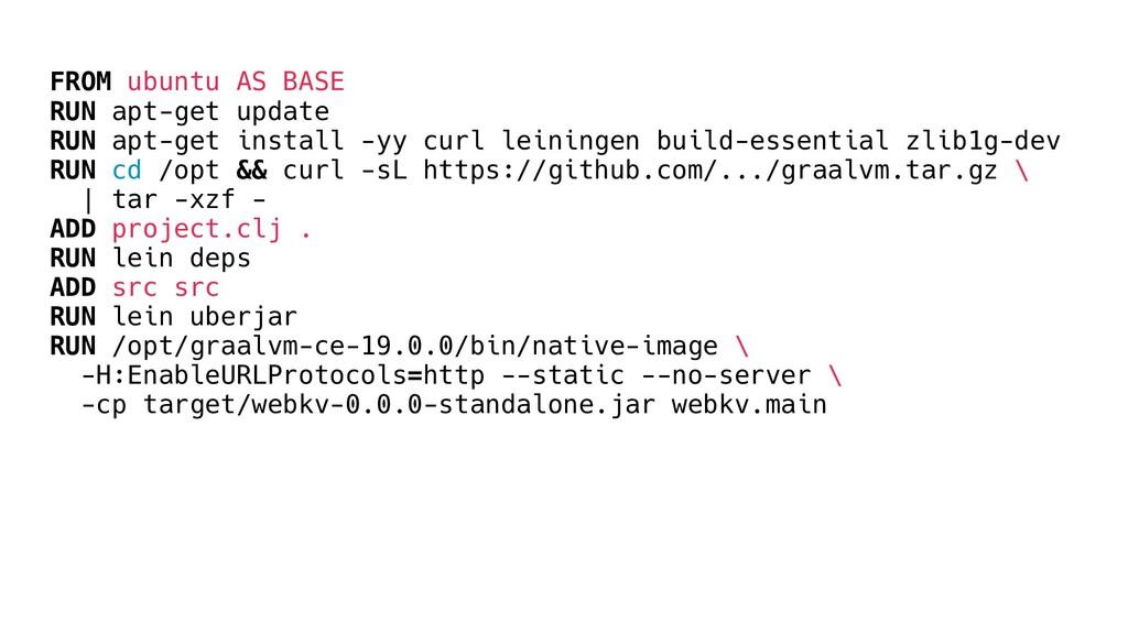 FROM ubuntu AS BASE RUN apt-get update RUN apt-...