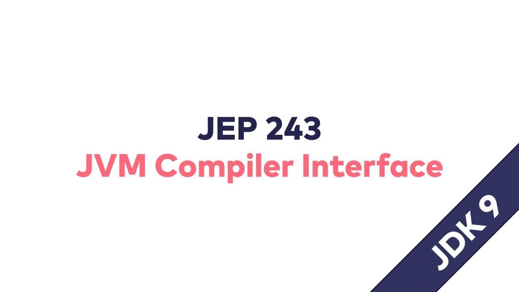 JEP 243 JVM Compiler Interface JD K 9