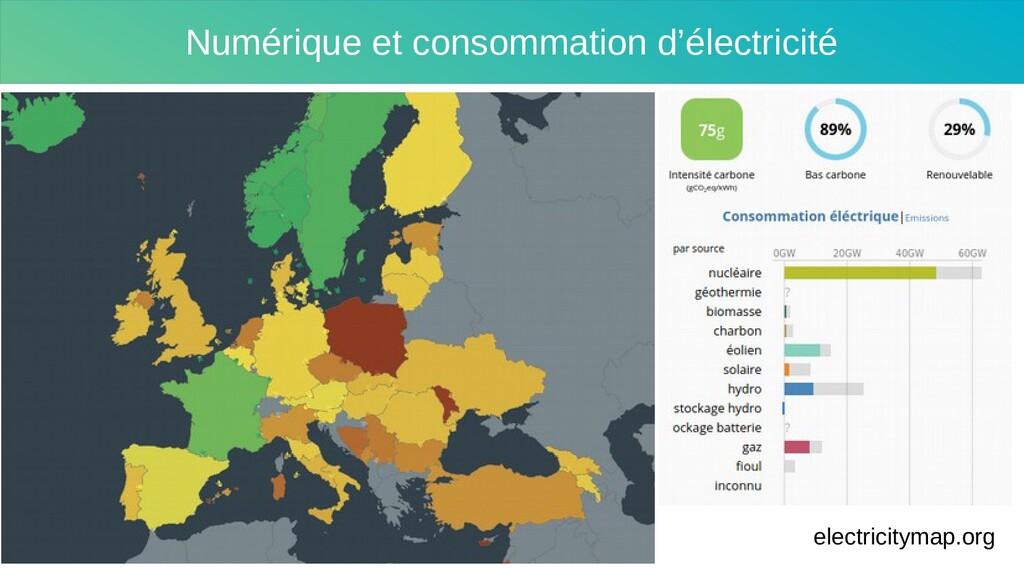 Numérique et consommation d'électricité electri...