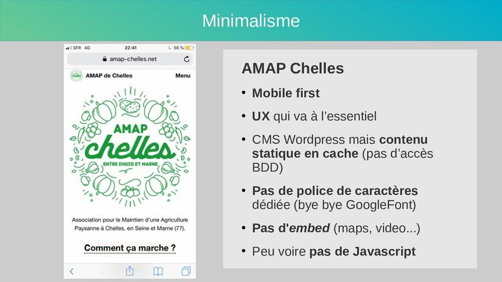Minimalisme AMAP Chelles ● Mobile first ● UX qu...