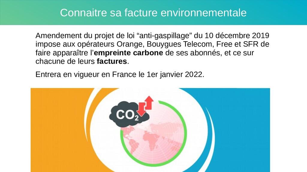 Connaitre sa facture environnementale Amendemen...