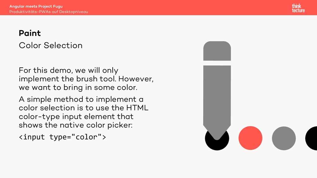 Color Selection For this demo, we will only imp...