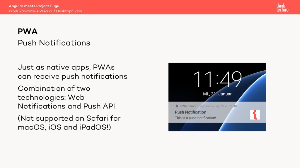 Push Notifications Just as native apps, PWAs ca...