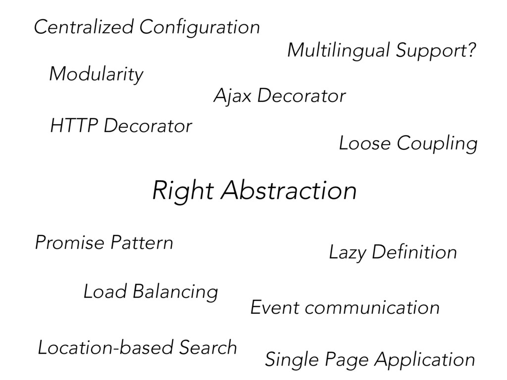 Right Abstraction Loose Coupling Ajax Decorator...