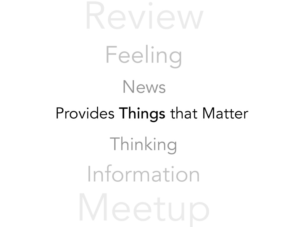 Provides Things that Matter Thinking Informatio...