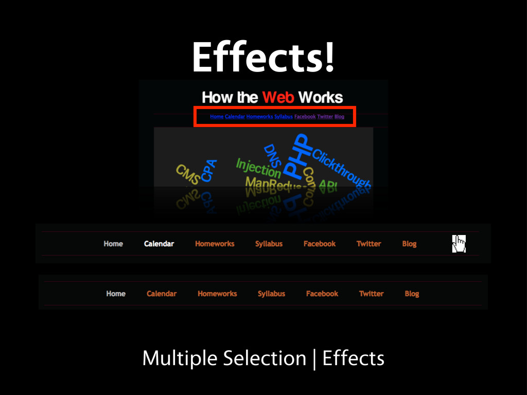 Effects! Multiple Selection   Effects